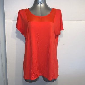 Orange mesh tshirt